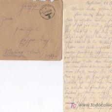 Postales: ALEMANIA III REICH HISTORIA POSTAL, SOBRE CON CARTA CIRCUALDO 24 - 10 - 1942. FRANQUICIA 5 ))). Lote 26792611