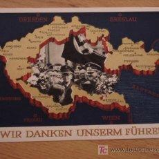 Postales: ANTIGUA POSTAL DE HITLER - REVERSO CON SELLO DE BERLIN 1938 - II GUERRA MUNDIAL - POSTAL ORIGINAL DE. Lote 26770704