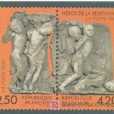 Postales: HEROES DE LA RESISTENCIA FRANCESA. Lote 6839402