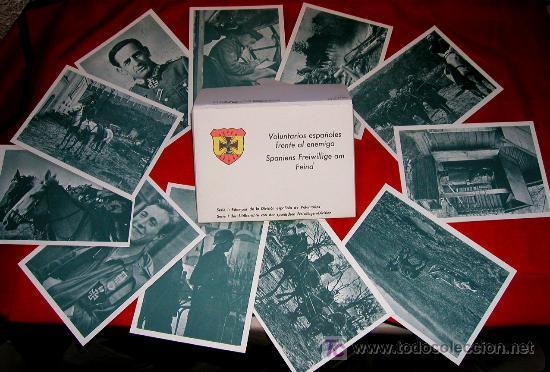 SOBRE CARTERA 12 POSTALES DIVISION AZUL SERIE I - VOLUNTARIOS ESPAÑOLES FRENTE AL ENEMIGO FASCIMIL (Postales - Postales Temáticas - II Guerra Mundial y División Azul)