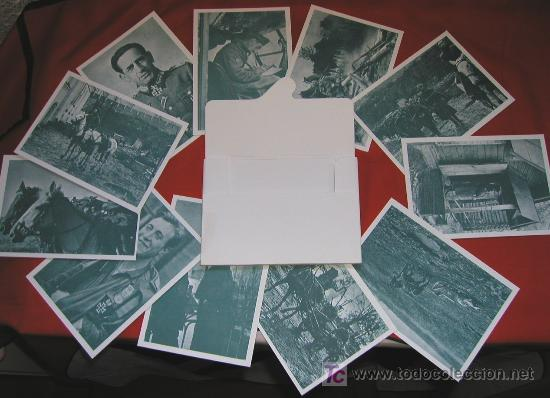 Postales: Sobre Cartera 12 Postales DIVISION AZUL SERIE I - Voluntarios españoles frente al enemigo Fascimil - Foto 2 - 26810097