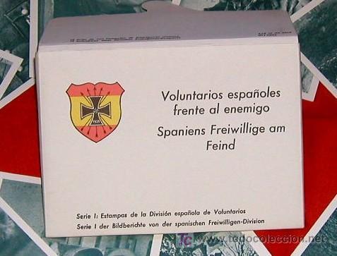 Postales: Sobre Cartera 12 Postales DIVISION AZUL SERIE I - Voluntarios españoles frente al enemigo Fascimil - Foto 4 - 26810097