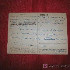 Postales: DIVISION AZUL - FELDPOST RUSIA A ESPAÑA ENVIADO POR DIVISIONARIO A SU FAMILIA DESDE FRENTE RUSO 1943. Lote 26810109