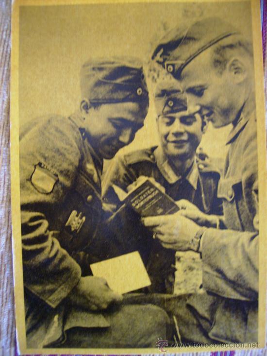 POSTAL DIVISION AZUL,CAMARADERIA HISPANO ALEMANA (Postales - Postales Temáticas - II Guerra Mundial y División Azul)