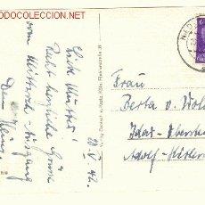 Postales: ALEMANIA POSTAL CON SELLO BUSTO HITLER A CALLE ADOLPH HITLER STRASSE 1942. Lote 22318724