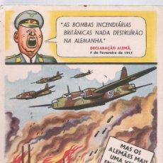 Postales: POSTAL EN PORTUGUES,PARODIANDO LOS BOMBARDEOS ALEMANES. 1941. Lote 17015874