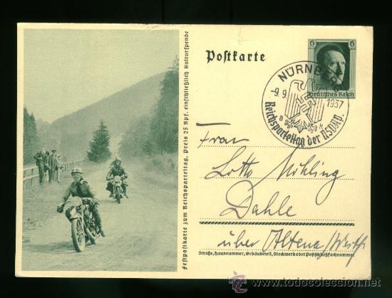 POSTAL DE PROPAGANDA ALEMANA TERCER REICH - CIRCULADA (Postales - Postales Temáticas - II Guerra Mundial y División Azul)