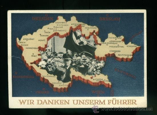 POSTAL DE PROPAGANDA ALEMANA TERCER REICH (Postales - Postales Temáticas - II Guerra Mundial y División Azul)