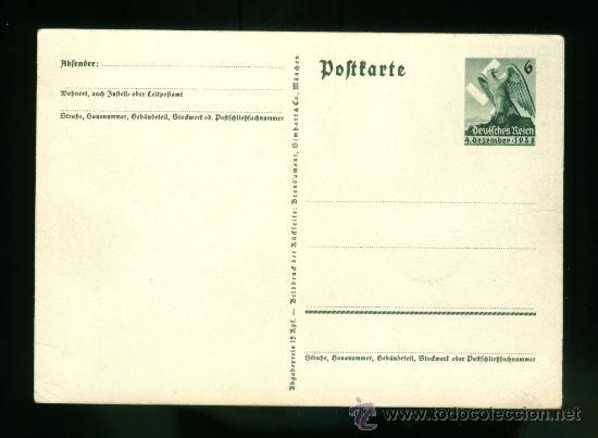 Postales: postal de propaganda alemana tercer reich - Foto 2 - 26949692