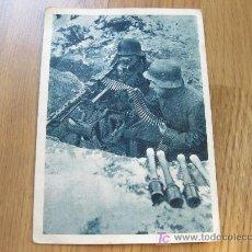 Postales: POSTAL DIVISION AZUL. CON LA AMETRALLADORA EN LA TRINCHERA AVANZADA.. Lote 20649164