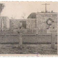 Postales: III REICH FOTO POSTAL ORIGINAL DE LAS TUMBAS DE SOLDADOS ALEMANES, 5. SE APRECIAN LOS DETALLES. Lote 26519369