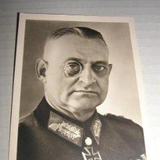 Postales: POSTAL FOTO ESTUDIO TENIENTE GENERAL HERMANN RECKNAGEL, CRUZ DE CABALLERO CON HOJAS DE ROBLE - ORIGI. Lote 13853007