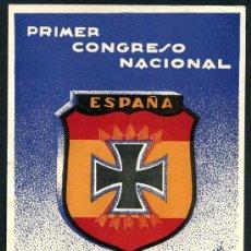 Postales: POSTAL DIVISION AZUL, ORIGINAL, 1ª CONGRESO HERMANDADES , VALENCIA 1956 ,. Lote 27356210