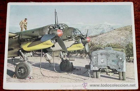 ANTIGUA POSTAL DE AVIACION DE BOMBARDEO Y STUKAS ALEMANES JU 88 TOMANDO ESENCIA - NO CIRCULADA - ESC (Postales - Postales Temáticas - II Guerra Mundial y División Azul)