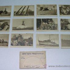 Postales: MARINA - II GUERRA MUNDIAL . BRITAIN PREPARED . 12 POSTALES . H.M. ROYAL NAVY . EN SU SOBRE ORIGINAL. Lote 19846007