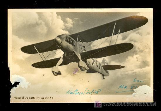 TARJETA POSTAL DE UN AVION (Postales - Postales Temáticas - II Guerra Mundial y División Azul)