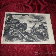 Postales: POSTAL CARRO DE ASALTO ALEMAN CAÑONEANDO UNIDADES DE LA FLOTA INGLESA. Lote 12504019