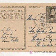 Postales: POSTKARTE.EUROPÄISCHER POSTKONGRESS WIEN. 1942. ALEMANIA . . Lote 12510306