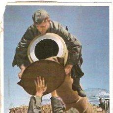 Postales: POSTAL 2ª GUERRA MUNDIAL MOMENTO DE QUITAR EL CASQUETE DE CIERRE. Lote 14365855