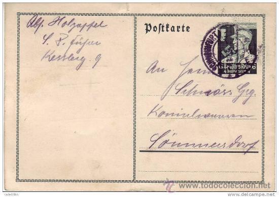 POSTAL ALEMANIA. FRANKFURT 6-1-1935. III REICH. 2ª GUERRA MUNDIAL. (Postales - Postales Temáticas - II Guerra Mundial y División Azul)