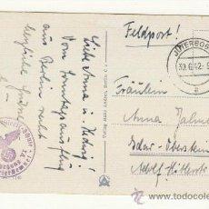 Postales: POSTAL DEL 30 JUNIO DE 1942 A LA ADOLPH HITLER STRASSE BONITO SELLO EN TINTA. Lote 22318742