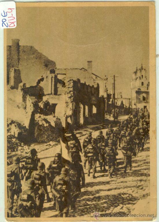 (DIV-4)POSTAL DE LA DIVISION AZUL-LA CRUZADA EUROPEA CONTRA EL BOLCHEVISMO (Postales - Postales Temáticas - II Guerra Mundial y División Azul)