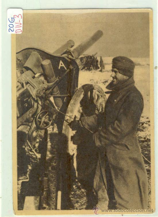 (DIV-3)POSTAL DE LA DIVISION AZUL-LA CRUZADA EUROPEA CONTRA EL BOLCHEVISMO (Postales - Postales Temáticas - II Guerra Mundial y División Azul)