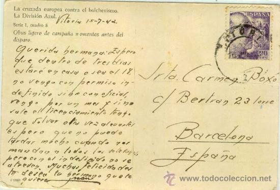 Postales: (DIV-3)POSTAL DE LA DIVISION AZUL-LA CRUZADA EUROPEA CONTRA EL BOLCHEVISMO - Foto 2 - 17690263