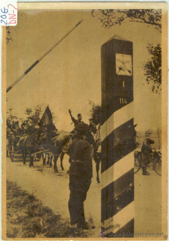 (DIV-2)POSTAL DE LA DIVISION AZUL-LA CRUZADA EUROPEA CONTRA EL BOLCHEVISMO (Postales - Postales Temáticas - II Guerra Mundial y División Azul)