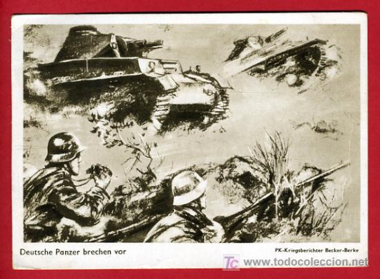 MILITARES , PROPAGANDA , II GUERRA MUNDIAL , P38200C (Postales - Postales Temáticas - II Guerra Mundial y División Azul)