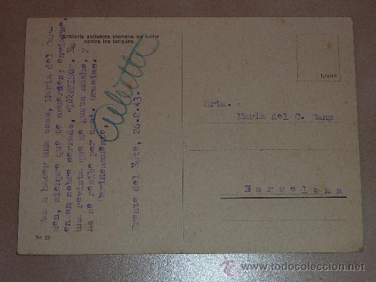 Postales: Postal Division Azul. Escrita a madrina 26-2-43. - Foto 2 - 23995880