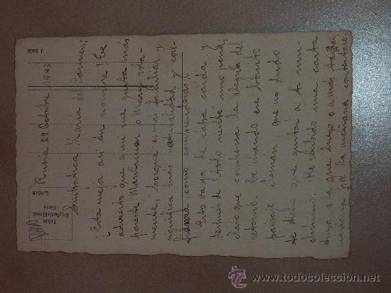 Postales: Postal Division Azul. Escrita a madrina 29-10-43. - Foto 2 - 23976666