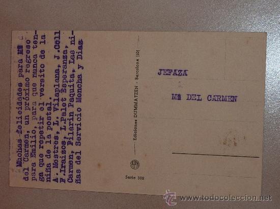 Postales: Postal Division Azul. Escrita a madrina en 1943. Seccion femenina Falange Barcelona. - Foto 2 - 23995889