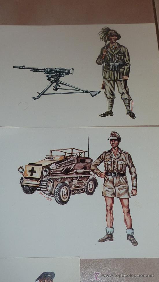 Postales: Lote de 5 postales de uniformes y tanques de la IIWW. Variados. - Foto 3 - 24907737