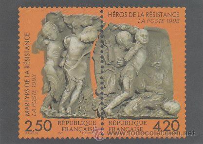 FRANCIA, TARJETA QUE REPRODUCE EL SELLO HEROES DE LA RESISTENCIA DE 1993 (Postales - Postales Temáticas - II Guerra Mundial y División Azul)