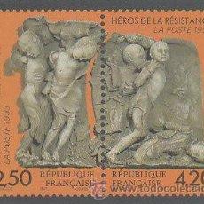 Postales: FRANCIA, TARJETA QUE REPRODUCE EL SELLO HEROES DE LA RESISTENCIA DE 1993. Lote 22389552
