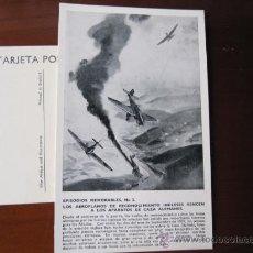 Postales: POSTAL SERIE EPISODIOS MEMORABLES - Nº 2 AEROPLANOS DE RECONOCIMIENTO INGLESES - WAR ARTISTS. Lote 23018434