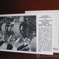Postales - POSTAL SERIE EPISODIOS MEMORABLES - Nº 3 TANQUES FRANCESES EN FRENTE ORIENTAL - WAR ARTISTS - 23018468