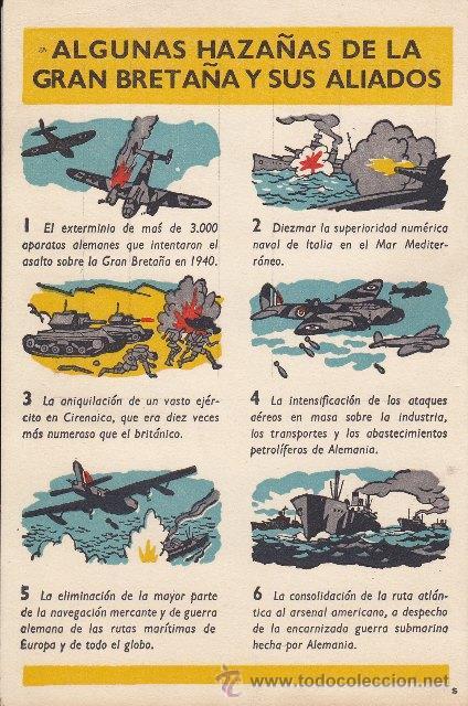 POSTAL ALGUNAS HAZAÑAS DE LA GRAN GRETAÑA Y SUS ALIADOS - SEGUNDA GUERRA MUNDIAL (Postales - Postales Temáticas - II Guerra Mundial y División Azul)