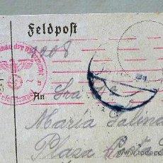 Postales: FELDPOST, ALEMANIA A VALENCIA, POSTAL DE SOLDADO A FAMILIARES, 1942, ESCRITA EN RUSIA. Lote 23683849