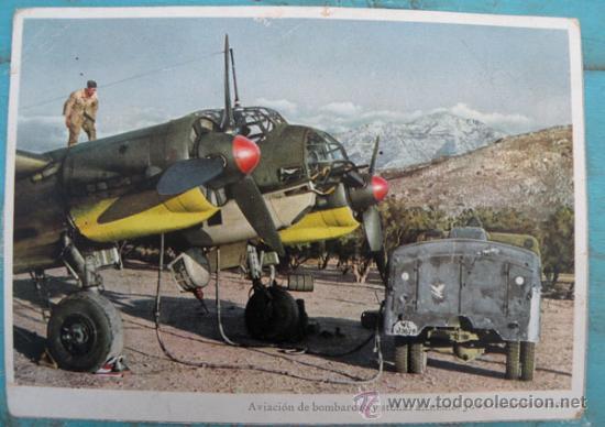 ANTIGUA POSTAL - AVIACION DE BOMBARDEO Y STUKAS ALEMANES JU 88 TOMANDO ESENCIA - EN LA 2ª GUERRA MUN (Postales - Postales Temáticas - II Guerra Mundial y División Azul)