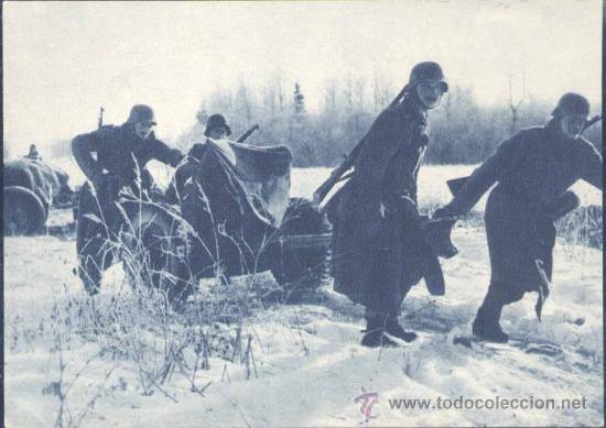 II GUERRA MUNDIAL.-POSTAL DE PROPAGANDA DE LAS TROPAS ALEMANAS (Postales - Postales Temáticas - II Guerra Mundial y División Azul)