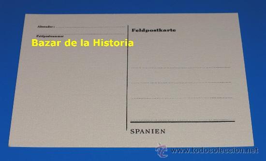 Postales: POSTAL DIVISION AZUL con la bandera de combate del III Reich y una celebre frase de Adolf Hitler - Foto 2 - 193418128