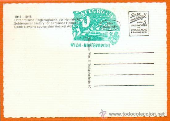 Postales: 2ª GUERRA MUNDIAL 1944-1945 FABRICA SUBTERRANEA DE AVIONES HEINKEL SIN CIRCULAR ORIGINAL - Foto 2 - 28827292