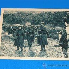 Postales: POSTAL DE LA DIVISION AZUL - VOLUNTARIOS ESPAÑOLES FRENTE AL ENEMIGO SERIE I, CUADRO 10. Lote 28991166