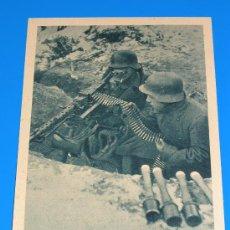 Postales: POSTAL DE LA DIVISION AZUL - VOLUNTARIOS ESPAÑOLES EN EL INVIERNO RUSO - SERIE II, CUADRO 7. Lote 28991241