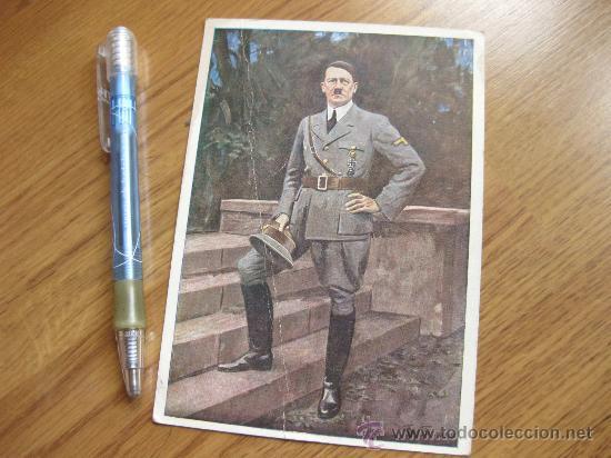 POSTAL DE ADOLF HITLER ENVIADA POR UN ESPAÑOL POSIBLEMENTE DIVISION AZUL (Postales - Postales Temáticas - II Guerra Mundial y División Azul)