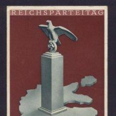 Postales: ALEMANIA PROPAGANDA MILITAR DE LA II GUERRA MUNDIAL CONGRESO DE NURNBERG REICHSPARTEITAG 1938. Lote 30709397