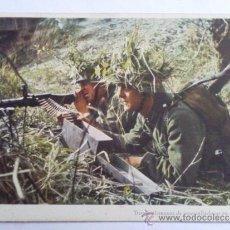 Postales: POSTAL MILITAR - TROPAS ALEMANAS DE AMETRALLADORAS EN EL COMBATE. Lote 31634805
