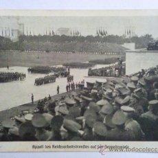 Postales: POSTAL MILITAR - DESFILE DE TROPAS ANTE HITLER , 21-9-1938 , SELLADA. Lote 31635585